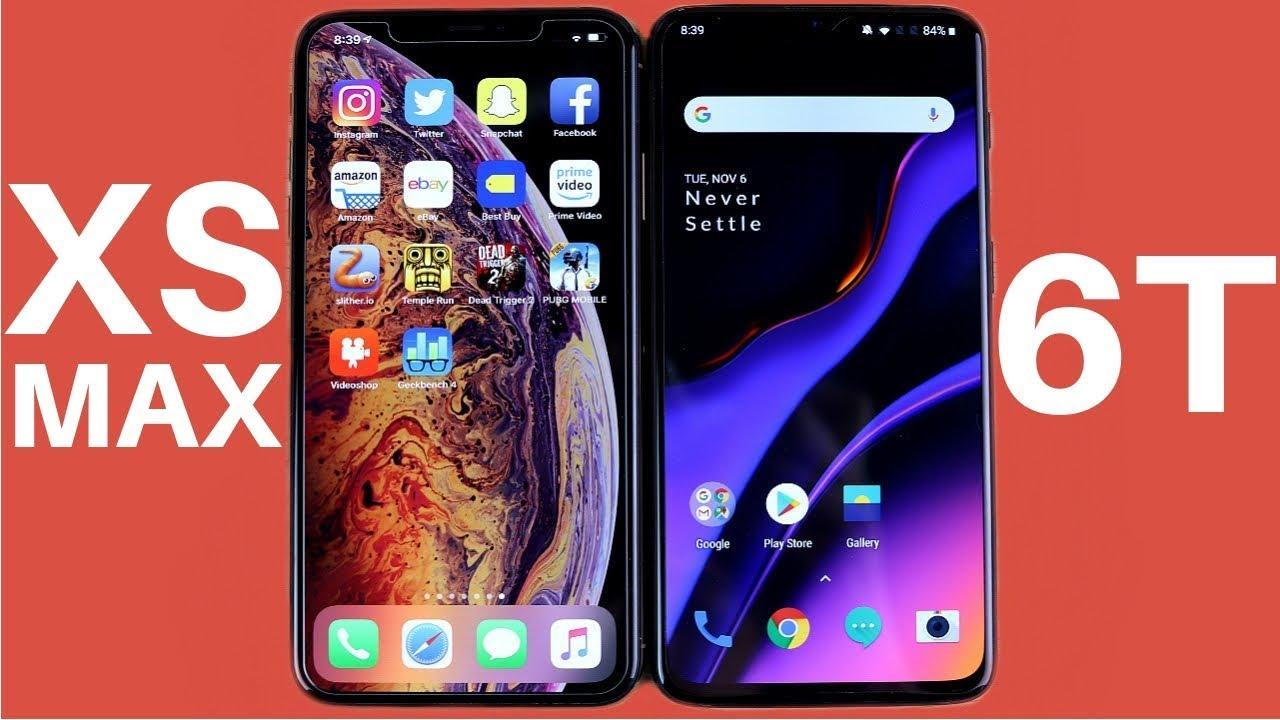 huge selection of 248a3 e6a72 iPhone XS Max vs OnePlus 6T Speed Test!