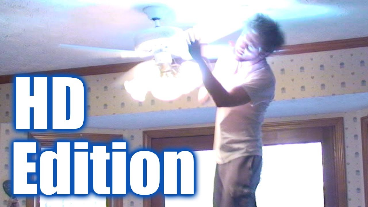 Ceiling fan trick knockdown slow motion edition youtube ceiling fan trick knockdown slow motion edition mozeypictures Images