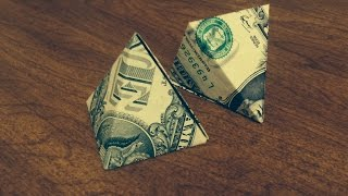 ASMR How To Make A Money Origami Pyramid