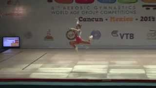 Vanessa ADAMEC  AG 1 Finals 13th Aerobic Gymnastic World Championship  2014
