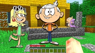 I FOUND THE LOUD HOUSE IN MINECRAFT - MINECRAFT THE LOUD HOUSE