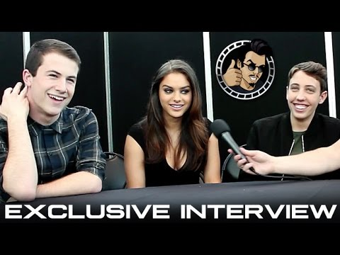 Dylan Minnette, Odeya Rush, and Ryan Lee Interview - Goosebumps (HD) 2015, horror comedy