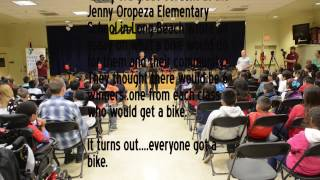 Bikes for kids - 130 bikes for 130 kids at Oropeza Elementary in Long Beach