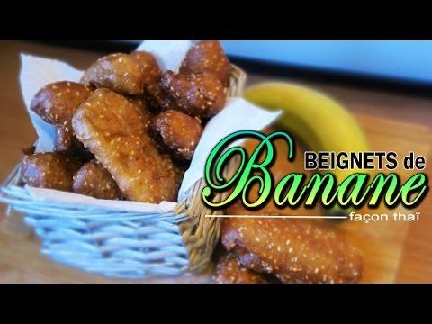 recette thai de beignets de banane le riz jaune youtube. Black Bedroom Furniture Sets. Home Design Ideas