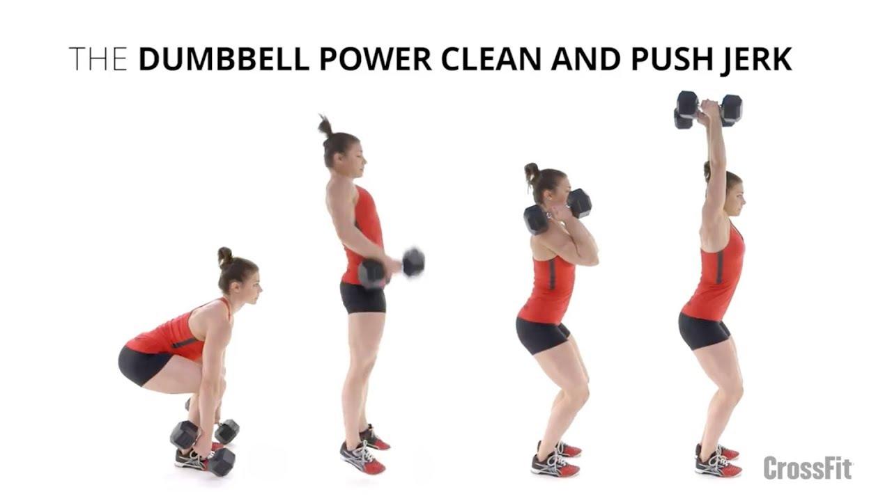 Dumbbell Power Clean And Push Jerk - YouTube