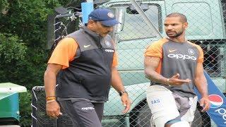 Watch:Team India Head Coach Ravi Shastri turns as an elder brother for a struggling Dhawan | ENGvIND