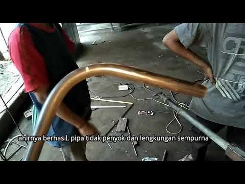 Cara bending pipa, membengkokkan pipa besi