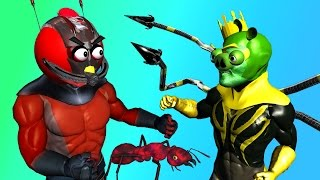 ANT-MAN starring ANGRY BIRDS  ♫  3D animated game & movie mashup  ☺ FunVideoTV - Style ;-))