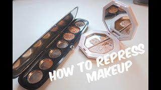 How to Repress Makeup and Make Franken-Eyeshadows! || MAP Beauty