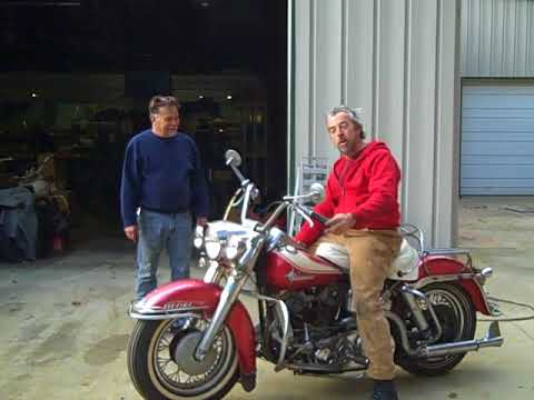 Old Harley Panhead back to life at Wheels Through Time motorcycle museum
