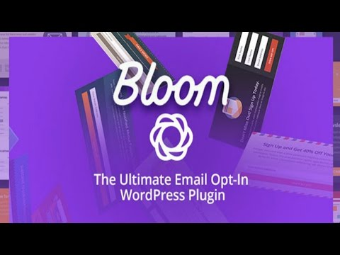 How To Use The Bloom Plugin By Elegant Themes | Add An Email opt-in Form To Your Wordpress Website