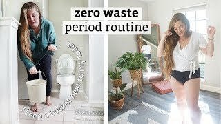 my ZERO WASTE period routine & all the WEIRDNESS that comes with it