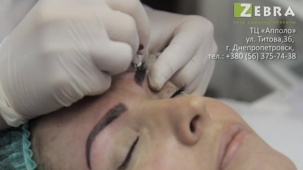 точечный татуаж бровей фото