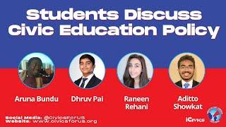 #CivicsForUS Panel 5: Students Discuss Civic Education Policy
