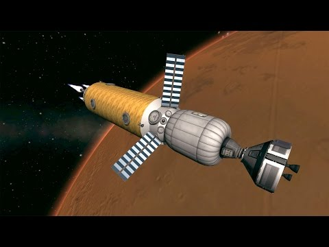 KSP Mission to Mars in Real Solar System