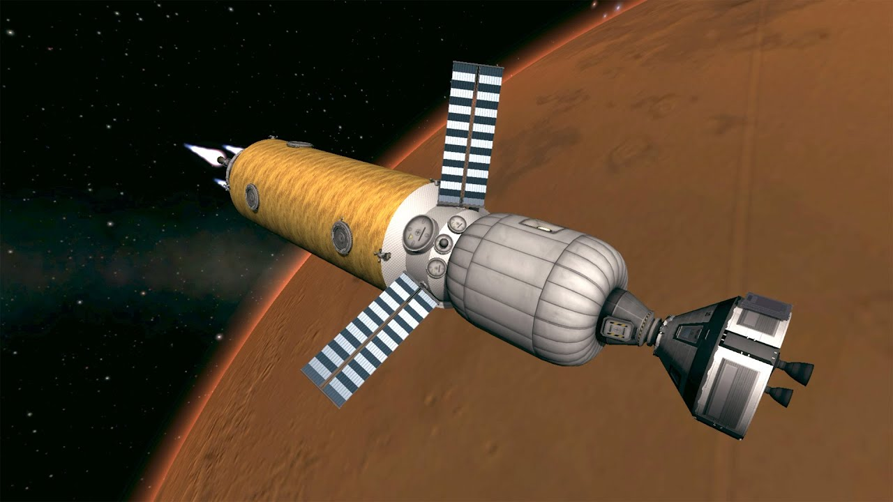 KSP Mission to Mars in Real Solar System - YouTube