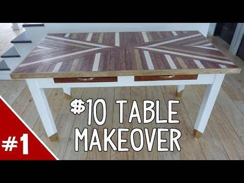$10 Table Makeover - Part 1 of 2