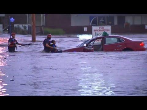 Kansas city hit by flooding