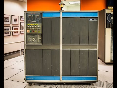 Ken Ross and Paul Laughton demo the IBM 1401