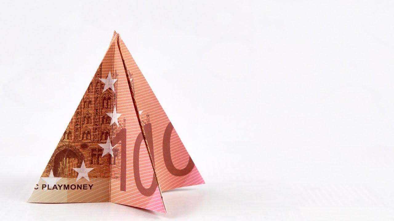 GELD als WEIHNACHTSBAUM falten: Geldgeschenk zu Weihnachten ...