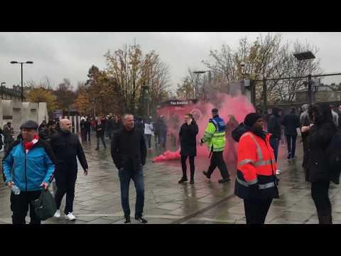 Arsenal vs Tottenham troubles. Emirates stadium. 18/11.2017