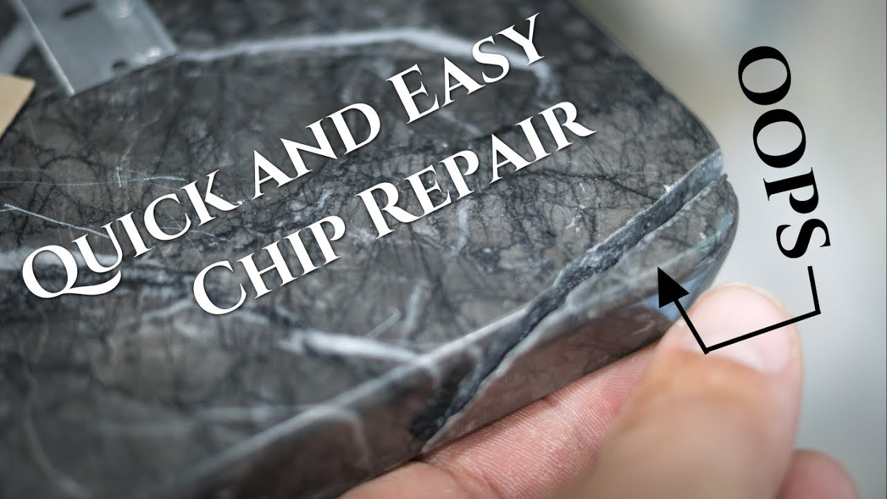 How to Fix Chip in Granite Marble or Quartz - EASY