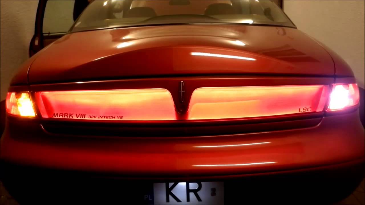 1997 Lincoln Mark Viii Led Amber Rear Turn Signals Youtube