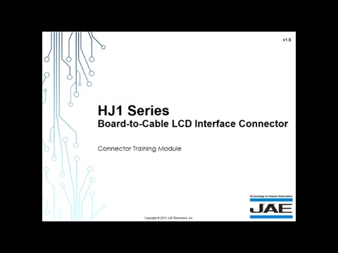 JAE Board-to-Cable LCD Interface
