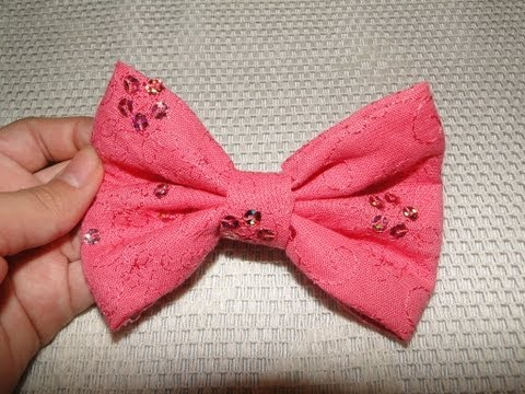 diy how to do a cute and easy hair bow no sew