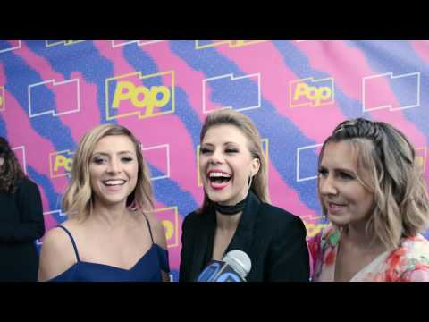 Jodie Sweetin, Christine Larkin and Beverly Mitchell of POP TV Hollywood Darlings