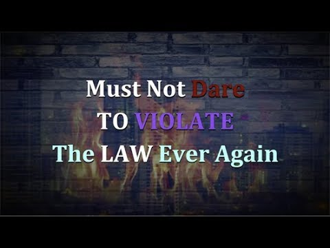 MUST NOT DARE TO VIOLATE THE LAW EVER AGAIN - UHRF INFORMS