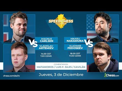 Carlsen vs. Artemiev & Nakamura vs. Fedoseev | SCC Cuartos | GM Matamoros, MF Mario Gavilán & Luisón