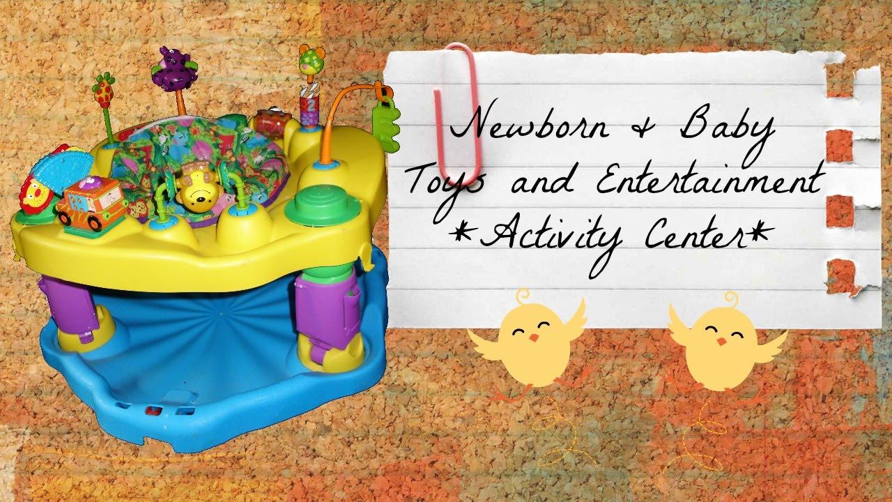 Baby Activity Center: Evenflo Exersaucer Mega Safari - YouTube