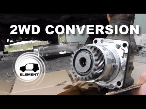 Honda Element 2WD conversion from 4WD