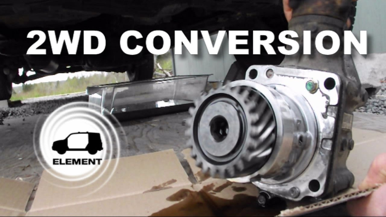2016 Honda Element >> Honda Element 2WD conversion from 4WD - YouTube
