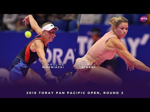 Camila Giorgi vs. Caroline Wozniacki | 2018 Toray Pan Pacific Open Round Two | WTA Highlights