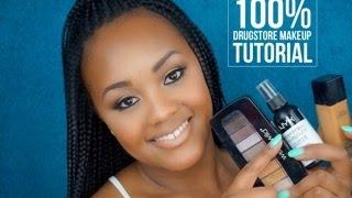 100% DRUGSTORE Makeup Tutorial | Vanessa Monae