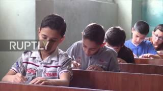 Syria  Aleppo's children take Russian exam following lessons by native teachers