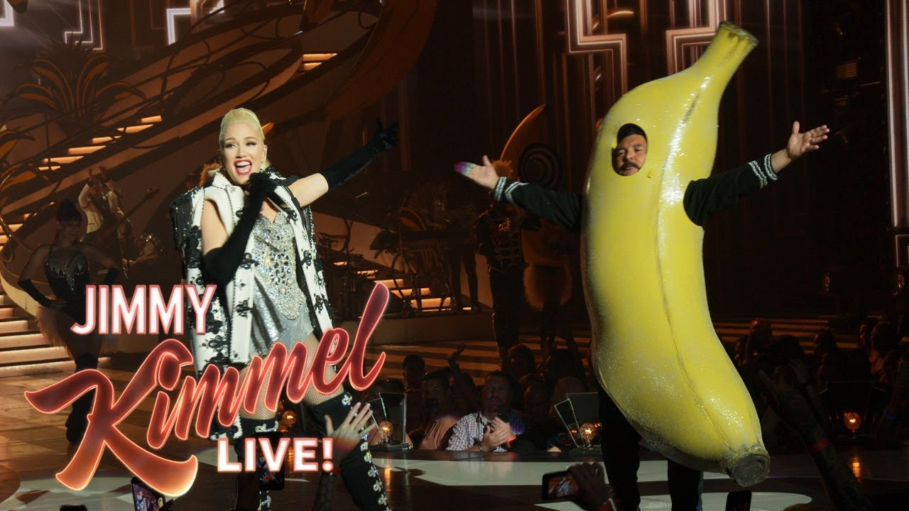 GWEN STEFANI FILMS JIMMY KIMMEL IN STUDIO HIGHLAND