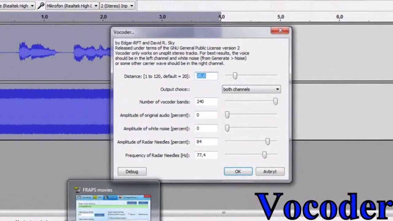 vocoder audacity