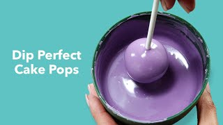 how to dip cake pops in candy melts
