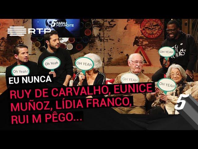 """""""Eu Nunca"""" c/ Ruy de Carvalho, Eunice Muñoz, Lídia Franco, João Telmo, Rui M Pêgo e Dino D'Santiago"""