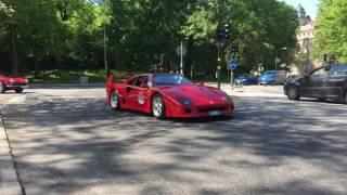[4k] INCOMING LaFerrari Aperta, LaFerrari and Ferrari F40 THE SOUND!
