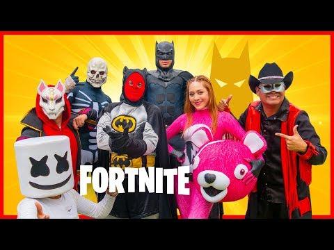 Fortnite X Batman En La Vida Real   Manito Y Maskarin/ Fortnite 2.0