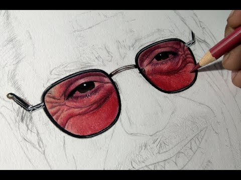 drawing-realistic-glasses-with-colored-pencils-||-sunny-sohal-art