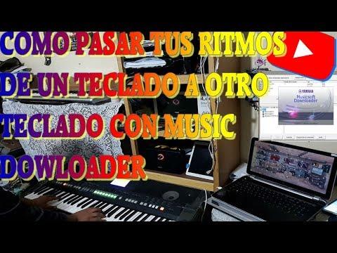 COMO PASAR RITMOS DE CUALQUIER TECLADO A TU TECLADO CON MUSIC DOWLOADER!!!