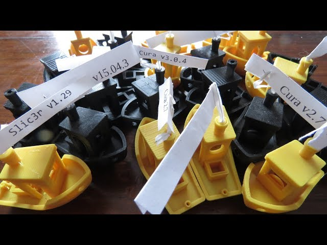 📌3DBenchy Top 3D Slicers Comparison Simplify3D vs Cura vs Slic3r vs Ideamaker vs Kiss vs Craftware