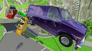 Beamng drive - The New Old Rope Car Crashes