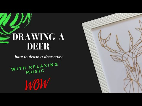 how to draw/paint deer on glass