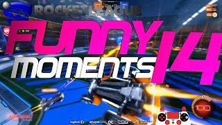 ROCKET LEAGUE FUNNY MOMENTS 14 ???? (FUNNY REACTIONS, FAILS & WINS BY COMMUNITY & PROS!)